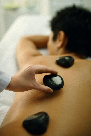 men's hot stone massage