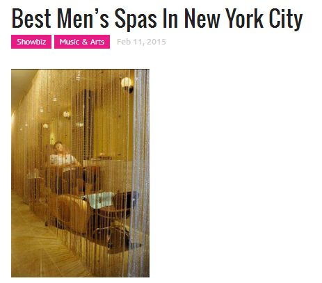Best Men's Spas in New York City