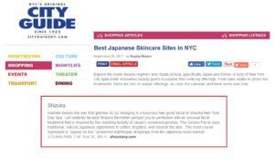 SHIZUKA new york Best Japanese Skincare Sites in NYC L